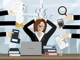 Image result for free image of stressed female business woman running