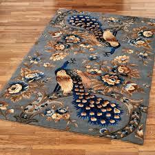 majestic peacock rectangle rug slate gray