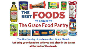 Food First Sunday For The Grace Church Food Pantry Grace
