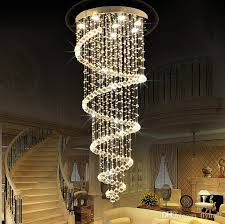led crystal chandelier lighting ceiling pendant lamp fixtures villas hotel hallway staircase hanging pendant light ac110 240v ce fcc rohs ceiling chandelier