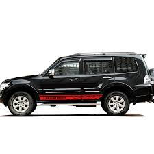 Pajero Sticker Design Us 29 93 21 Off Car Stickers 2pc Car Side Door Grid Stripe Styling Graphic Vinyls Accessories Decals Custom For Mitsubishi Pajero Sport In Car