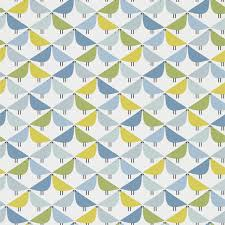 Scion Noukku Behang Lintu Blauw Groen Geel Kees Wallpaper