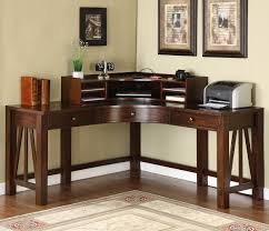 riverside castlewood curved corner desk and hutch