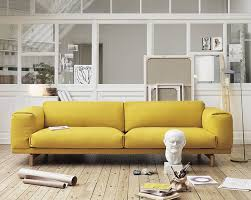 Low Modern Yellow Sofa