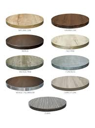 24 round marco cafe table top 9 colors available