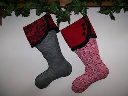 Christmas Stocking Pattern With Cuff Beauteous Send A Christmas Stocking To Far Away Friends And Family
