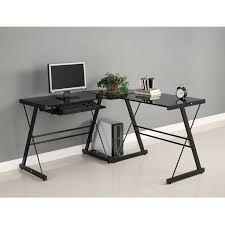 find best value and selection for your walker edison soreno black 3 pc student home office computer glass l corner desk search on ebay awesome glass corner office desk glass