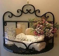 wrought iron bathroom shelf. Garden Style Wrought Iron Bathroom Shelves Storage Rack Wall Mounted Shelf