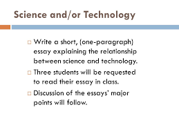 essay on science and technology science as knowledge and mode of essay on science and technology