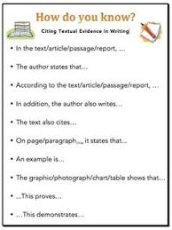 writing topic starters topic sentence starters teaching  citing textual evidence sentence starters for writing