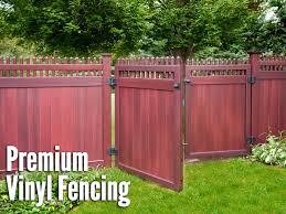 Vinyl fence Front Yard Custom Deer Fence Arlington Fence Illusions Vinyl Fence Riverside Fence