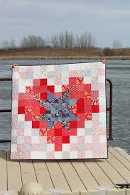 Handmade Quilt for Sale Pixel Star in a Pixel Heart Lap Quilt ... & Handmade Quilt for Sale Pixel Star in a Pixel Heart Lap Quilt Adamdwight.com