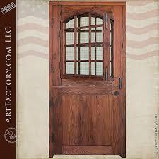 wood entry doors. Residential Wrought Iron Entry Doors Luxury Custom Dutch Door Solid Wood With 12 Pane