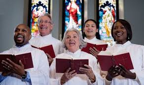 Image result for pictures of a person singing in church