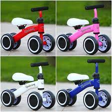 Xe đạp không bàn đạp giữ thăng bằng 4 bánh cho bé