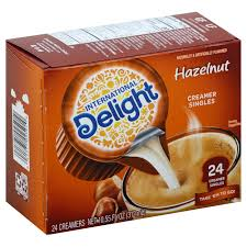1.2 international delight, singleserve coffee creamers pack of 1 shelf stable nondairy flavored coffee creamer great for home use offices parties single serve coffee creamers: International Delight Hazelnut Liquid Coffee Creamer Singles Shop Coffee Creamer At H E B