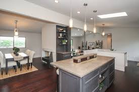 office countertops. Concrete Countertops With Matching Office Nook Behind For Cookbooks Or Storage O