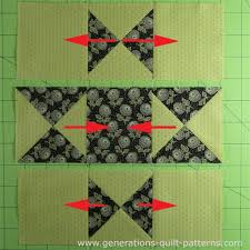 Ohio Star Quilt Block: Illustrated Step-by-Step Instructions in 5 ... & Press the SAs in the direction of the arrows to reduce bulk Adamdwight.com