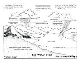 Creative Water Cycle Coloring Sheet Page As Well Decent Atraxmorgue