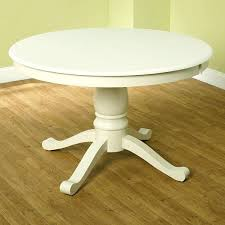 white pedestal table entry way table idea 3 you could paint the top and distress with a pop of color simple living round antique white pedestal dining table
