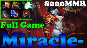 dota 2 miracle 8000mmr plays queen of pain full game ranked