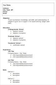 Resume Template College Student Resume Sample