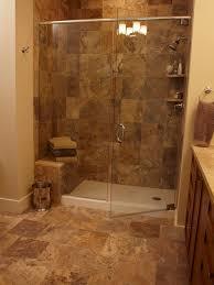 Bathroom Remodel Tile Shower Travertine Tiles In Bathroom Shower