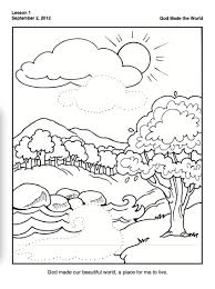 Creation Coloring Page For Preschoolers