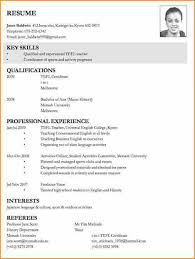 Cv Job Application Example Format Of C V For Job Application Cv