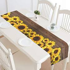 Sunflower home decor Sunflower Kitchen Image Unavailable Amazoncom Amazoncom Interestprint Sunflower Wooden Table Runner Home Decor