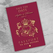 How To Make A Save The Date Card Passport To Love Save The Date Card