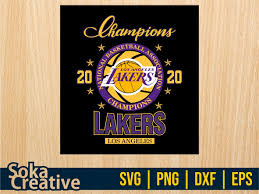 The current logo for the los angeles lakers national basketball association (nba) team. Los Angeles Lakers Champions 2020 Svg Vectorency