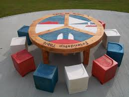 round table and seats