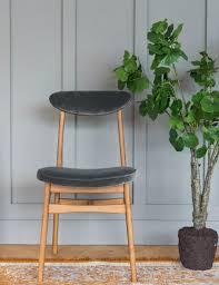velvet halas dining chair