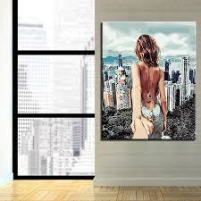 by numbers digital diy oil painting frame poster wall photo figure building art decoration canvas paint