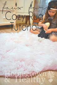 Fabric Rug Diy Faux Fur Rug Tutorial Fur Craft And Room