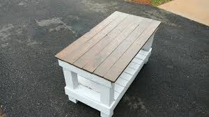 pallet coffee table i made for my mother in law i m new