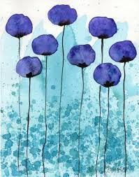 and simple watercolor painting ideas