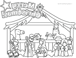 Manger Scene Coloring Pages Houseofhelpccorg