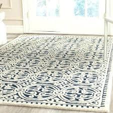 navy area rug 8x10