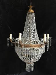 large antique french empire basket chandelier