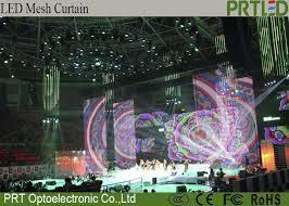 soft flexible led transpa led screen curtain display p10 high contrast