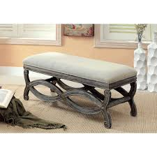 Solid Wood American Made Bedroom Furniture Furniture Of America Quazi Gray Solid Wood Reclaimed Bench By