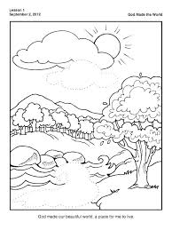 Creation Coloring Pages Pdf With Regard To Page