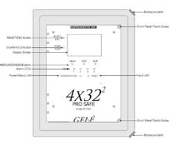 otis instruments oi 7400 prosafe wired sensor controller monitor otis instruments oi 7432 prosafe wired controller monitor panel front diagram
