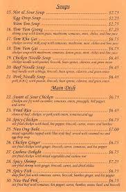 Bangkok Thai Restaurant Menu - Lubbock Menu