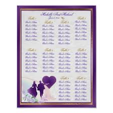 Zazzle Size Chart Adjustable Size Wedding Table Seating Chart Poster