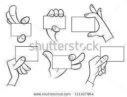 set cartoon hands holding card isolated stock vector 111427964