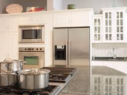 Kitchen countertop depth Average Kitchen With White Kitchen Cabinets Hgtvcom What To Consider When Selecting Countertops Hgtv