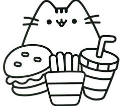 Pusheen Coloring Pages Printable Design Templates